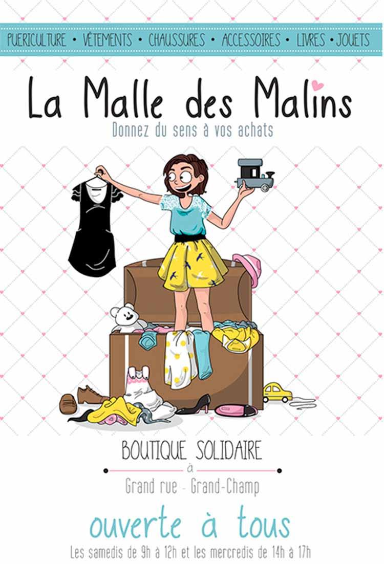 Flyer la Malle des Malins